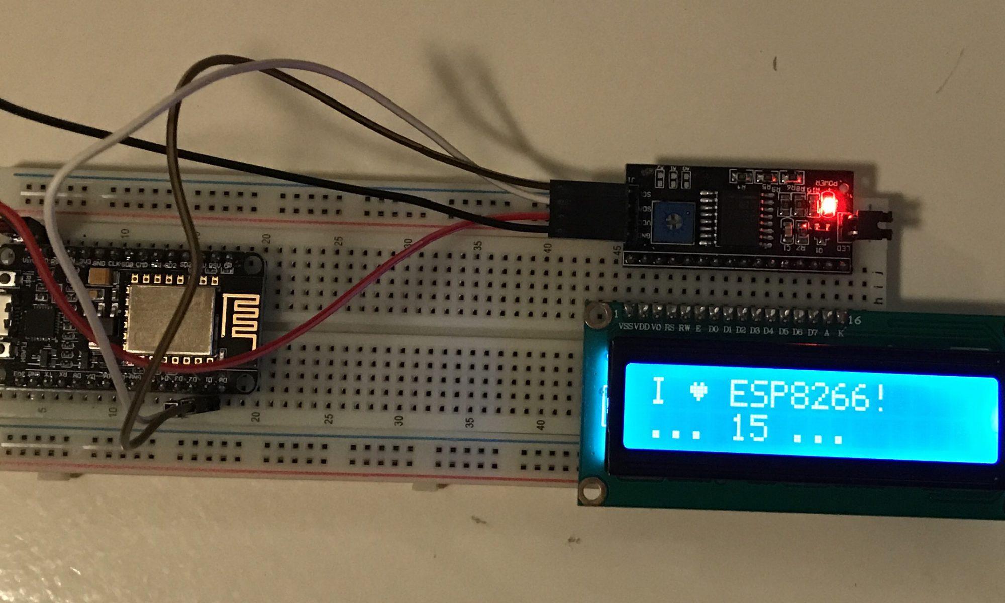 ESP8266 LCD Module Wiring