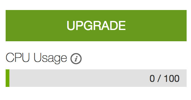 Godaddy Upgrade Button in cPanel